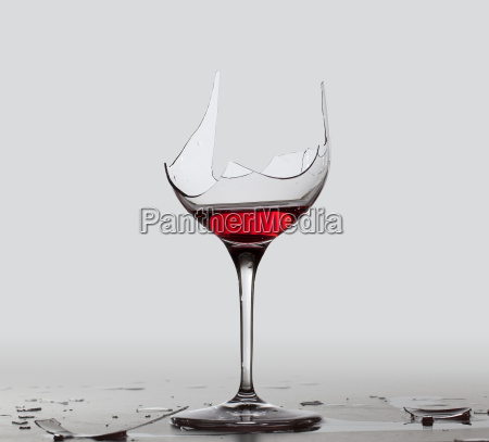 demon drink red wine in glass