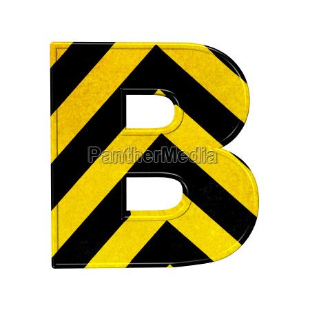 buchstaben in schwarz und gelb gefahr