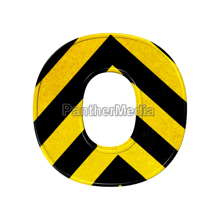 letters in black and yellow danger