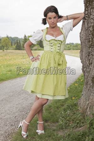 young woman with dirndl