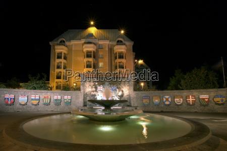 confederation fountain in victoria bc with