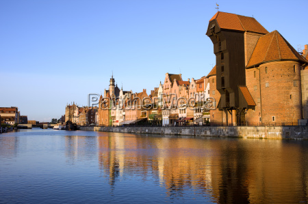 gdansk danzig old town waterfront along