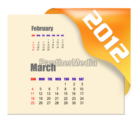 march, of, 2012, calendar, - 5673215