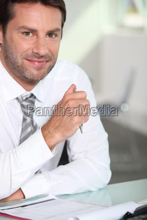 businessman with a beard