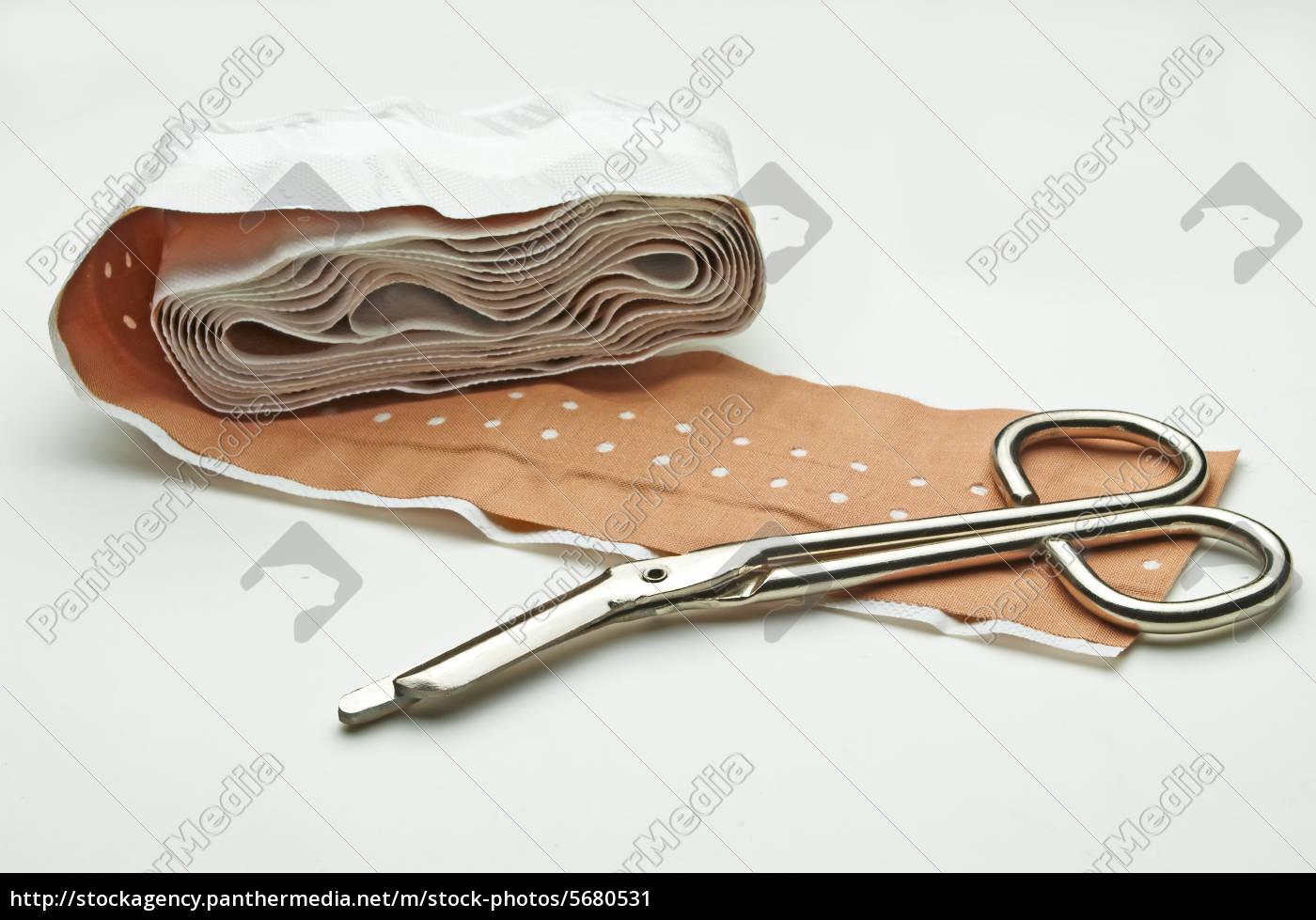 scissors, and, staple, plasters - 5680531