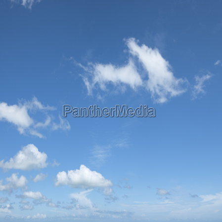 beautiful cloudy sky square composition