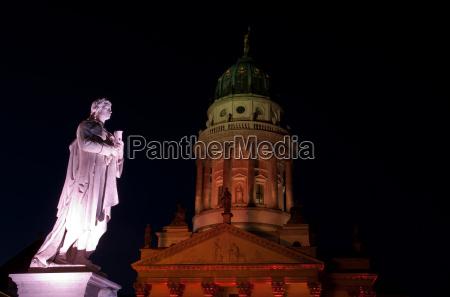 schiller monument on the gendarmenmarkt