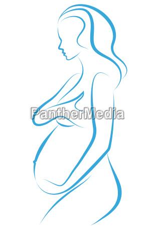 pregnant woman drawing
