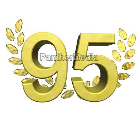 number with laurel wreath