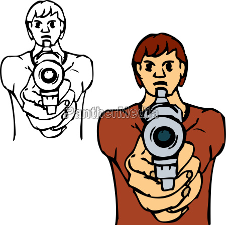 bad boy with gun