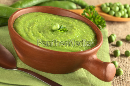 fresh green pea soup