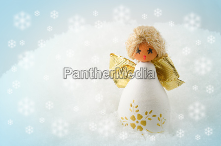 christmas angel in the snow