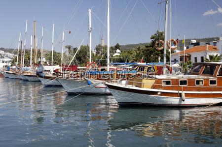 yachthafen in the resort bodrum