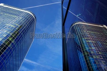 reflection of a skyscraper frankfurt