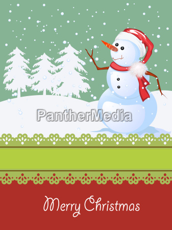 christmas card winter celebration
