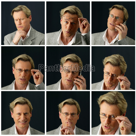 collage of a businessman