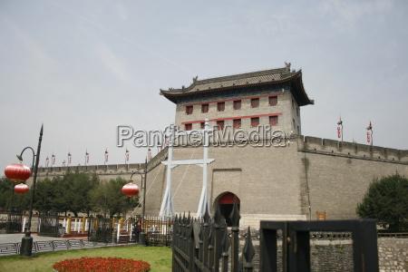 old town of xian drawbridge and