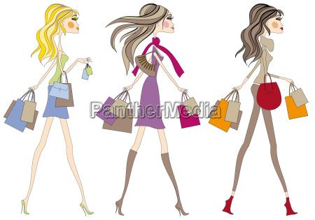 shopping women