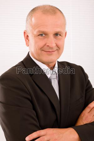 executive mature businessman professional suit