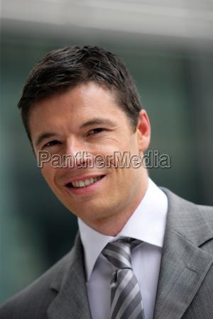 portrait of confident smiling businessman