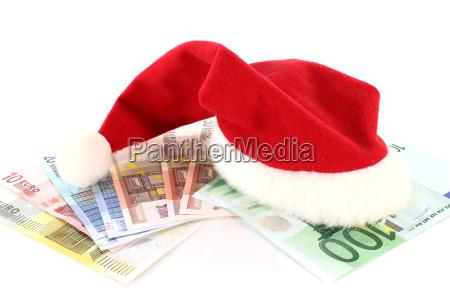 santa hat with money