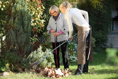 elderly woman with her gardener