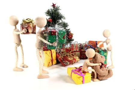woman fir tree christmas tree christmas