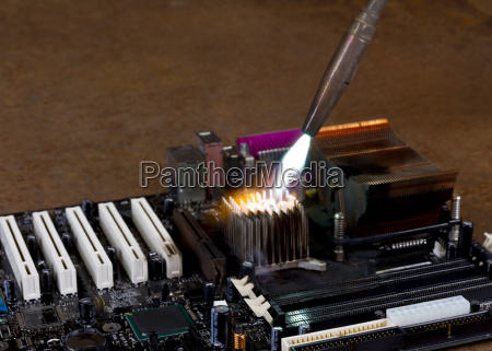 overheating a heat sink on computer
