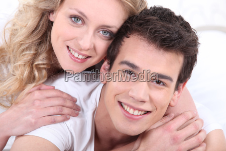 smiling young couple