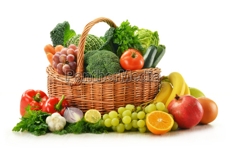 composition with vegetables and fruits in