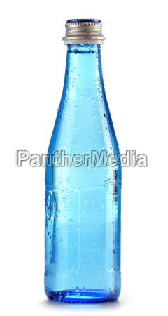 bottle of mineral water isolated on