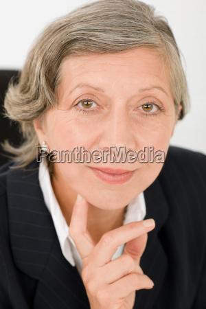 senior businesswoman professional portrait smart