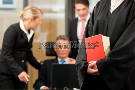 business meeting in a law