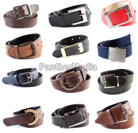 belts, collection, #3, |, isolated - 5809313
