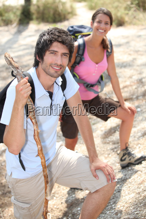 couple of young hikers