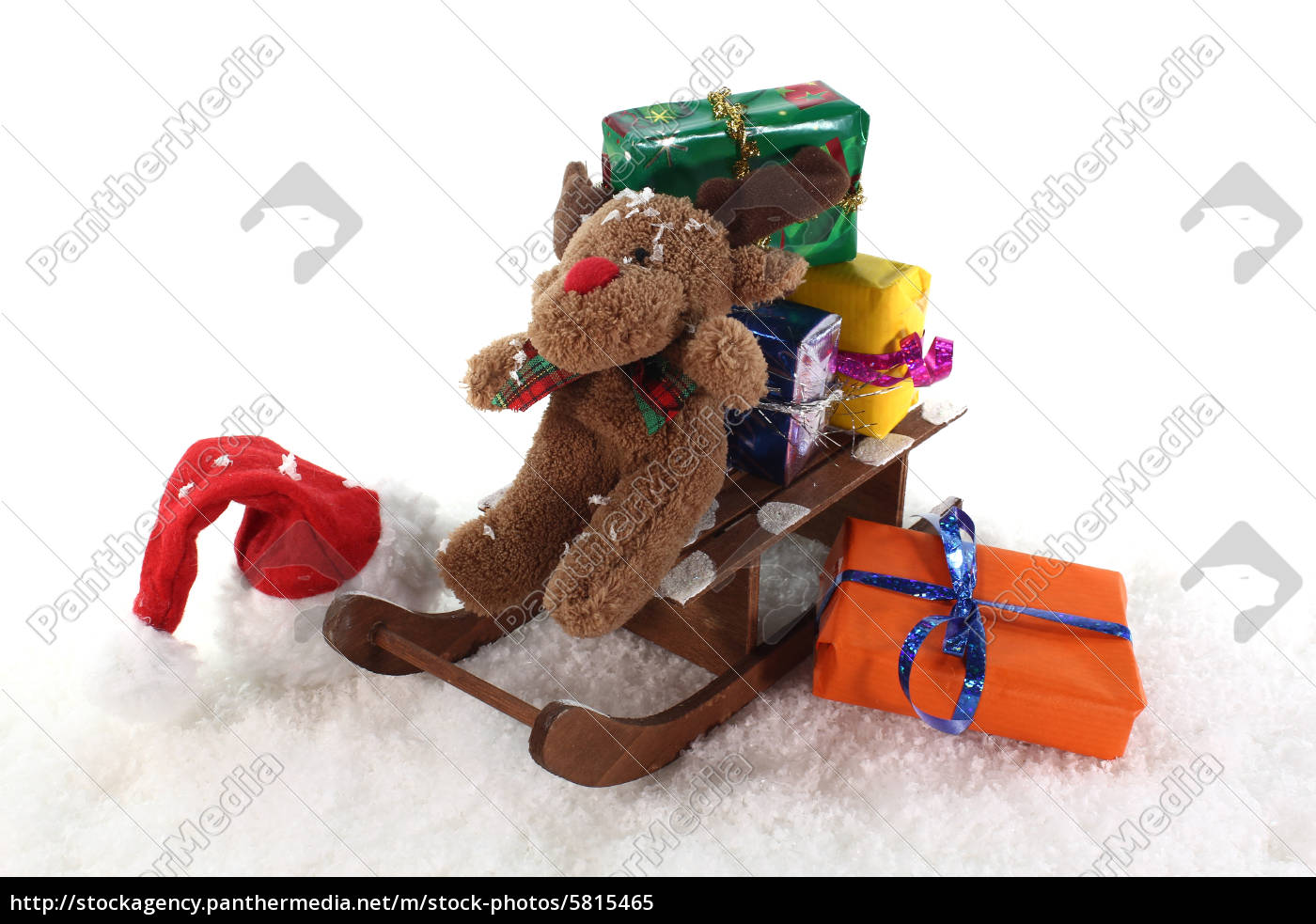 sleigh, with, gifts - 5815465