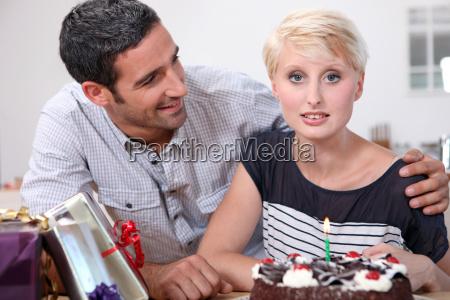 man celebrating girlfriend039s birthday
