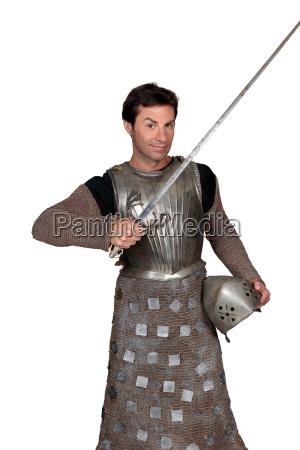 man in shining armour