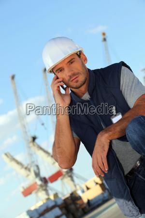 man on an oil platform