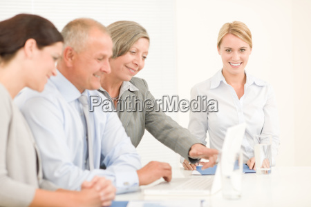 business, team, pretty, businesswomen, with, colleagues - 5832375