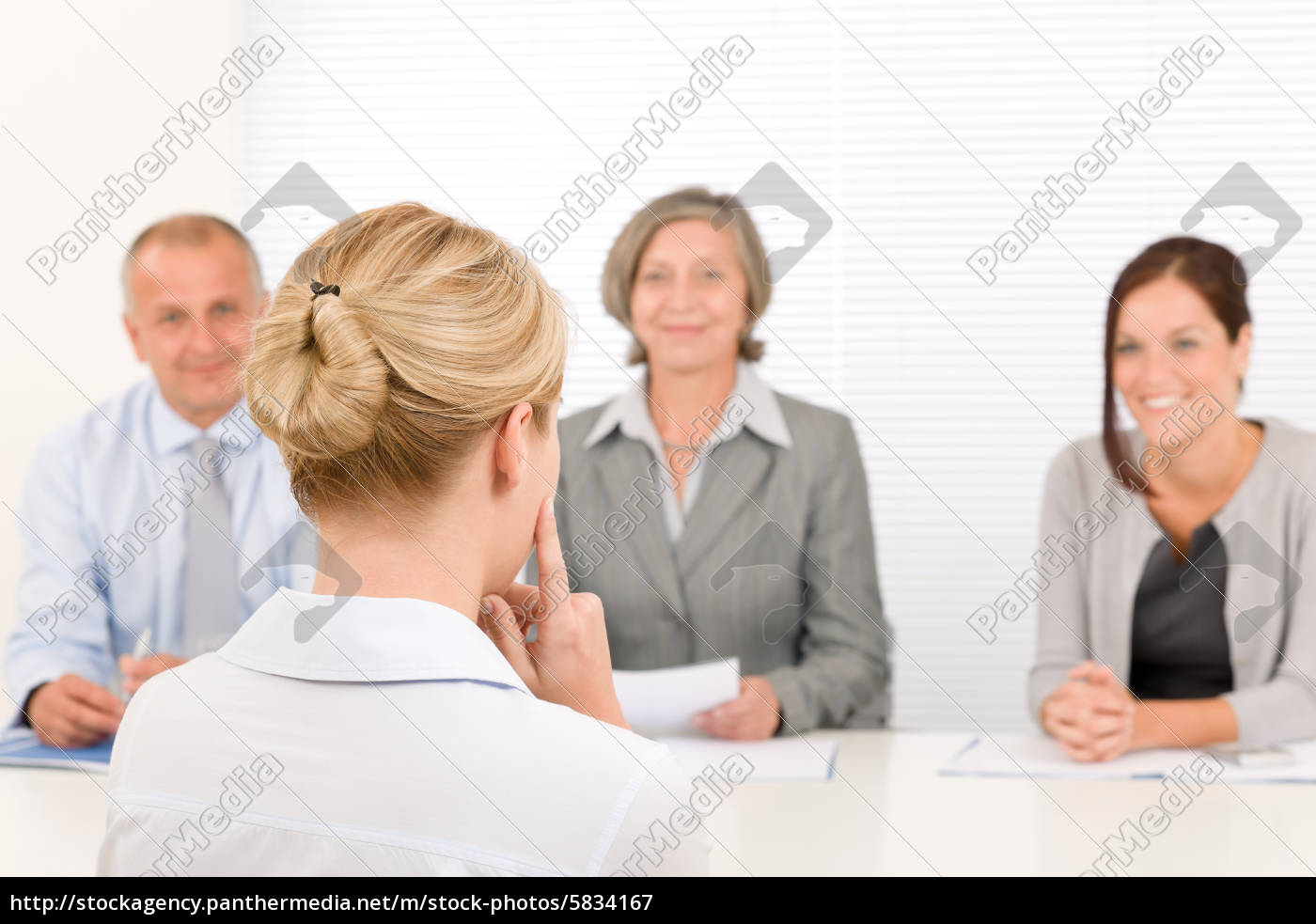 job, interview, young, woman, with, business - 5834167