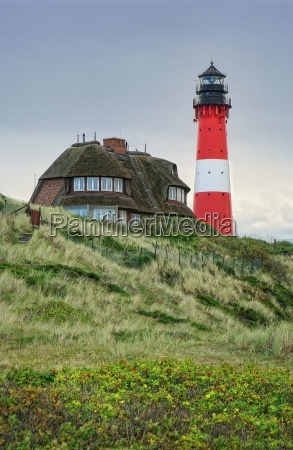lighthouse hoernum on sylt