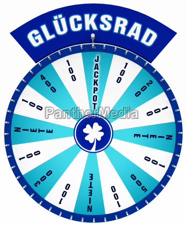 wheel of fortune isolated cyan