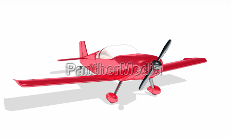 clipart red plane