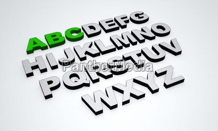 abc green grey