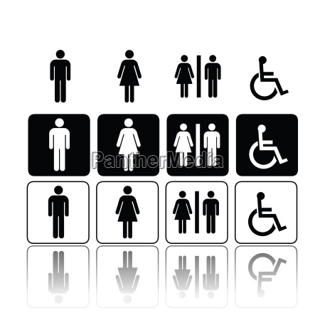toilet signs man and woman