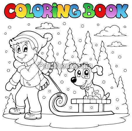 coloring book winter theme 1