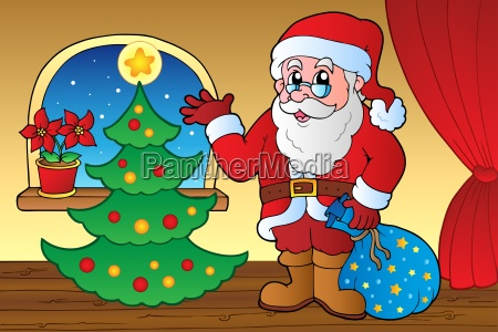 santa claus indoor scene 4