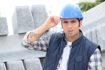 construction worker in a hardhat next