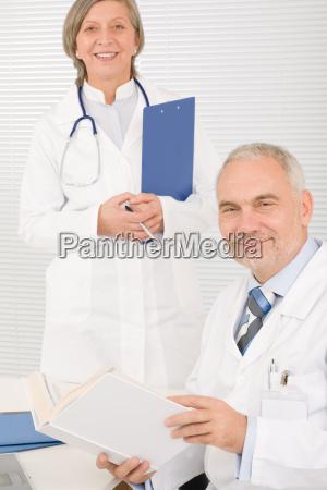 medical team senior doctor professional colleague